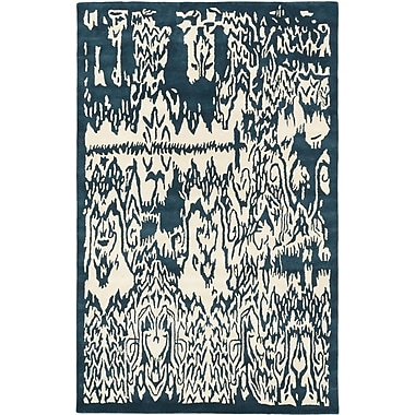 ECARPETGALLERY Abstract Art Modern Hand Tufted Cream Area Rug