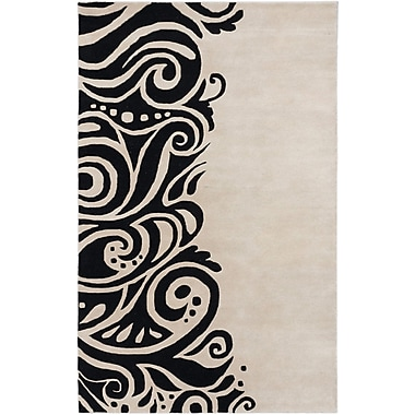 ECARPETGALLERY Impressions Modern Hand Tufted Black Area Rug