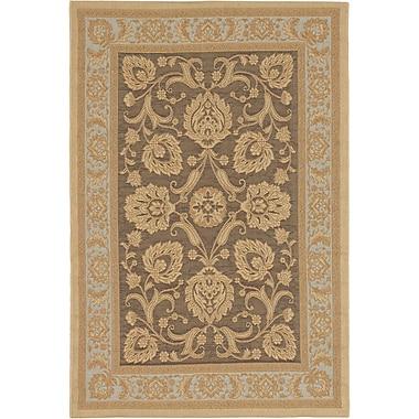 ECARPETGALLERY Versailles Antique Dark Brown Indoor/Outdoor Area Rug; Rectangle 4'9'' x 7'3''