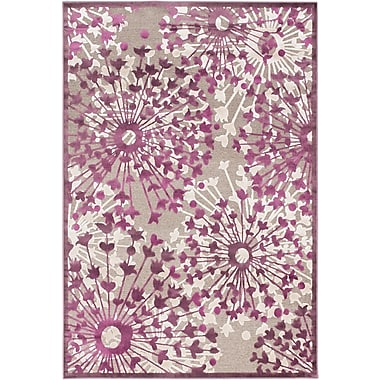 ECARPETGALLERY Cadiz Casual Dark Dull Pink Area Rug; Rectangle 5'3'' x 7'6''