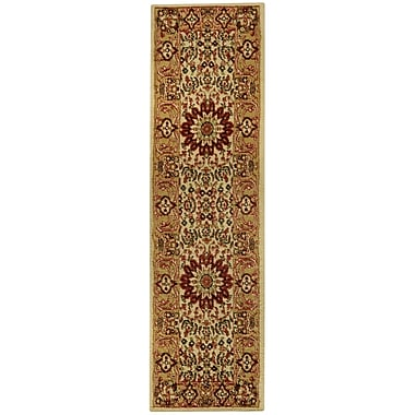 Rugnur Pasha Maxy Home Medallion Traditional Ivory/Red Area Rug; Runner 1'11'' x 6'11''