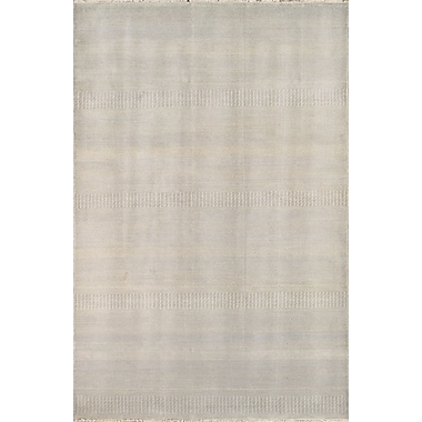 Pasargad Hand-Knotted Wool and Rayon from Bamboo Silk Ivory Light Area Rug