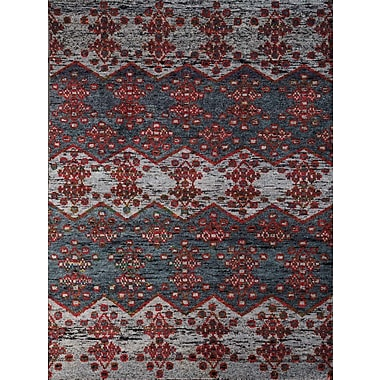 AMER Rugs Silkshine Hand-Knotted Gray Area Rug; 5' x 8'