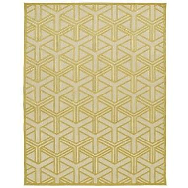 Kaleen Five Seasons Gold Indoor/Outdoor Area Rug; 5' x 7'6''