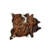 Natural Rugs Sienna Cowhide Brown/White Area Rug