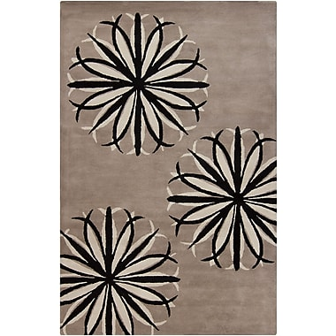 Chandra Stella Patterned Contemporary Wool Taupe Area Rug; 8' x 10'