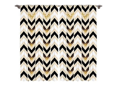 Ambesonne Curtain Panels (Set of 2); 84'' W x 108'' L