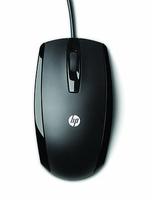 HP USB Wired Optical Mouse, Black
