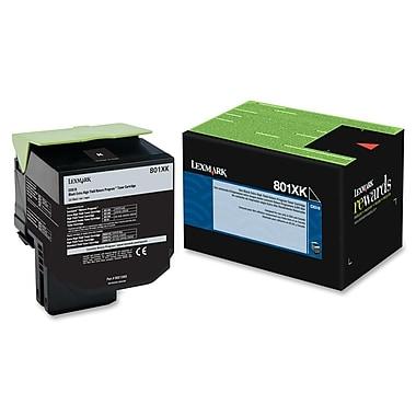 Lexmark - Cartouche de toner 801XK très haut rendement, programme de retour, noir (80C1XK0.CA)