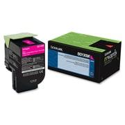 Lexmark 801XM Magenta Extra High Yield Return Program Toner Cartridge (80C1XM0.CA)