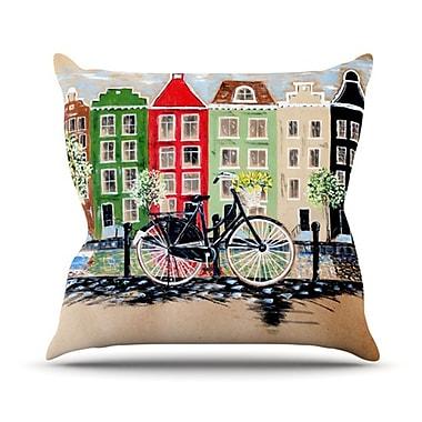 KESS InHouse Bicycle Throw Pillow; 16'' H x 16'' W