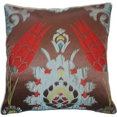 Edie Inc. Laser Moroccan Tile Throw Pillow; Spice