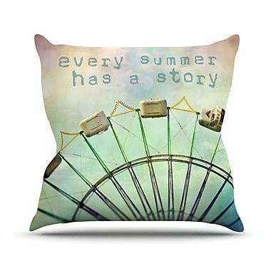 KESS InHouse Every Summer Has a Story Throw Pillow; 16'' H x 16'' W
