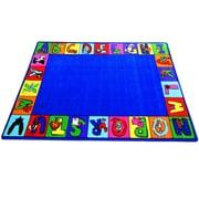 Kids World My ABC Squares Area Rug; 6'6'' x 8'4''