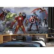 Room Mates Prepasted Avengers Assemble 126' x 72'' Wall Mural
