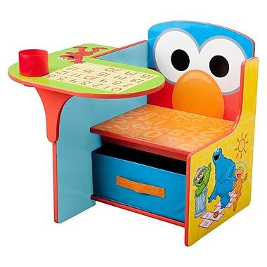 Delta Children Sesame Street Kids Desk Chair w/ Storage Compartment and Cup Holder