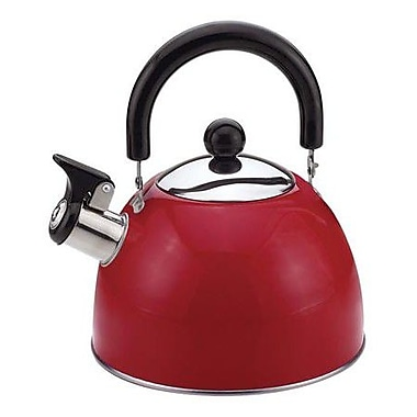 Culinary Edge 2.0-qt. Stainless Steel Tea Kettle; Red