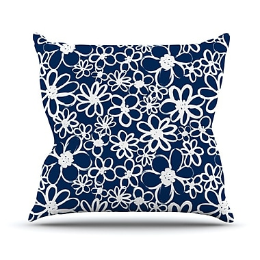 KESS InHouse Daisy Lane Throw Pillow; 16'' H x 16'' W x 3.7'' D