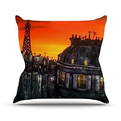 KESS InHouse Paris Throw Pillow; 16'' H x 16'' W