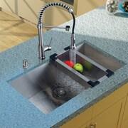 Vigo 32' x 19'' Undermount Kitchen Sink w/ Faucet, Grid, Strainer, Colander and Soap Dispenser