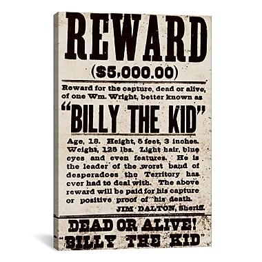 iCanvas Mugshot Billy the Kid Textual Art on Canvas; 40'' H x 26'' W x 1.5'' D