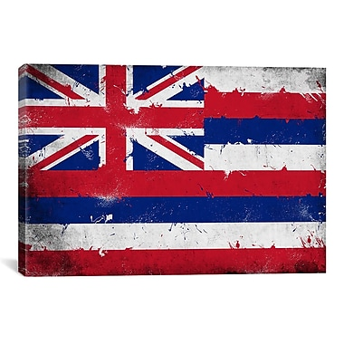 iCanvas Hawaii Flag, Grunge Painted Graphic Art on Canvas; 26'' H x 40'' W x 0.75'' D