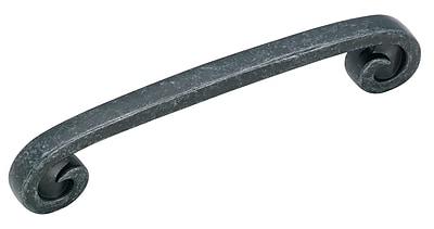 Amerock Swirl'Z 5'' Center Arch Pull; Wrought Iron Dark
