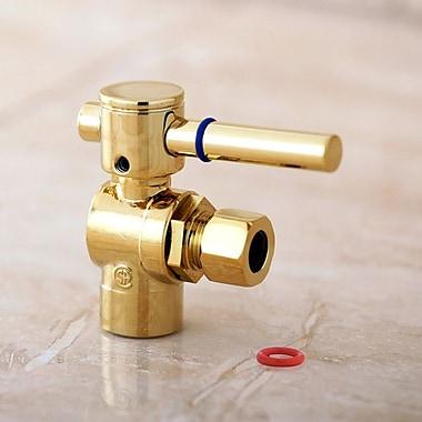 Kingston Brass Concord Angle Stop w/ 1/2'' Sweat x 3/8'' OD Compression; Polished Brass
