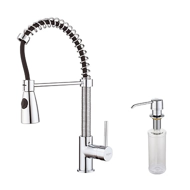 Kraus Single Handle Pull Down Kitchen Faucet; Chrome