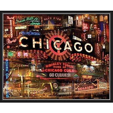 HadleyHouseCo Chicago by Giesla Framed Graphic Art