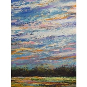 HadleyHouseCo 'A Little Piece of the Sky' by Jeff Boutin Painting Print on Wrapped Canvas
