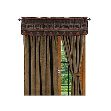 Wooded River Cabin Bear Single Curtain Panel