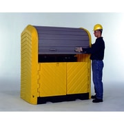 UltraTech International Inc Hard Top and 2 Drum Model 55 Gallon Hazardous Material Receptacle