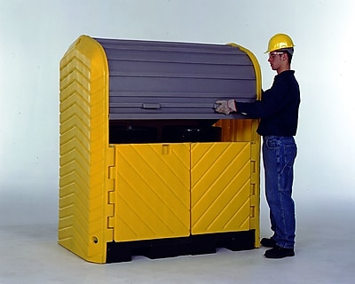 UltraTech International Inc Hard Top and 2 Drum Model 55 Gallon Hazardous Material Receptacle