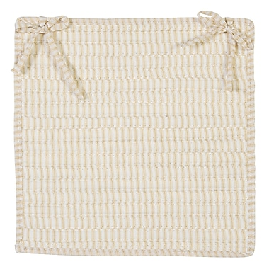 Colonial Mills Ticking Stripe Chair Pad (Set of 4); Canvas