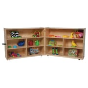 Wood Designs Versatile Folding 10 Compartment Shelving Unit w/ Casters