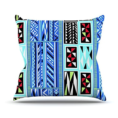 KESS InHouse American Blanket Pattern Throw Pillow; 16'' H x 16'' W