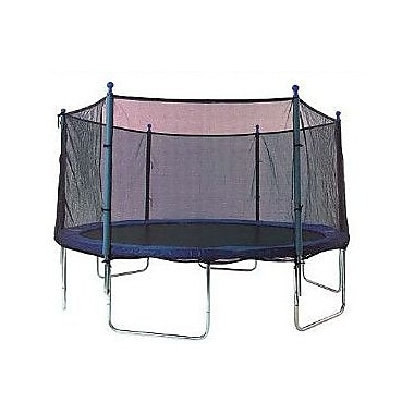 SKYBOUND 14' Enclosure Trampoline Net Using 6 Straight Poles