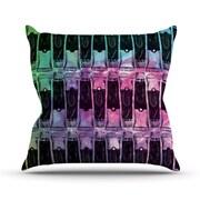 KESS InHouse Paint Tubes II Throw Pillow; 16'' H x 16'' W