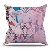 KESS InHouse Unicorn Throw Pillow; 16'' H x 16'' W