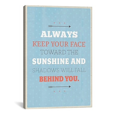 iCanvas American Flat Sunshine Textual Art on Wrapped Canvas; 41'' H x 27'' W x 1.5'' D