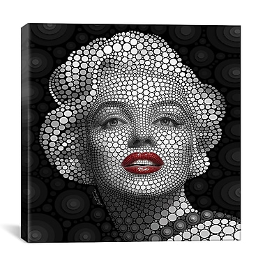 iCanvas 'Marilyn Monroe' by Ben Heine Graphic Art on Wrapped Canvas; 18'' H x 18'' W x 0.75'' D