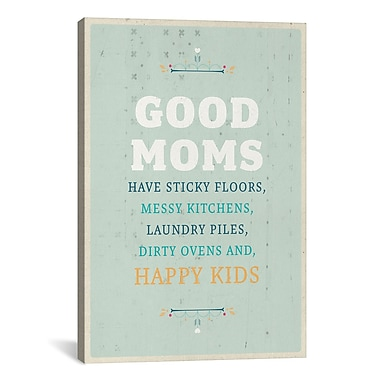 iCanvas American Flat Good Moms Textual Art on Wrapped Canvas; 41'' H x 27'' W x 1.5'' D