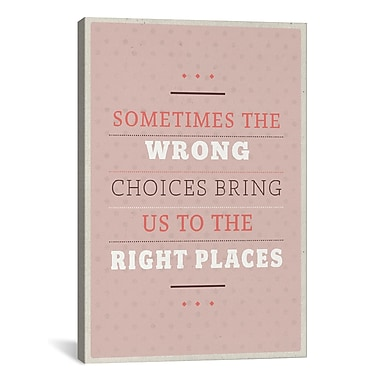 iCanvas American Flat Right Places Textual Art on Wrapped Canvas; 18'' H x 12'' W x 0.75'' D