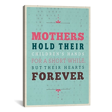 iCanvas American Flat Forever Mothers Textual Art on Wrapped Canvas; 61'' H x 41'' W x 1.5'' D