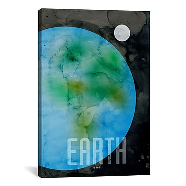 iCanvas 'The Planet Earth' by Michael Thompsett Graphic Art on Wrapped Canvas