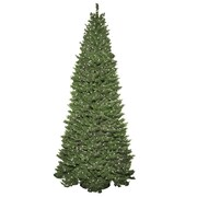 General Foam Plastics Slender 9' Green Spruce Artificial Christmas Tree w/ 850 Clear Lights
