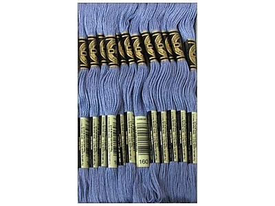 DMC Six Strand Embroidery Cotton, Medium Grey Blue-New Family