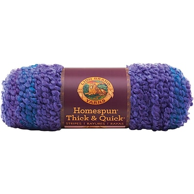 Homespun Thick & Quick Yarn, Violet Stripes