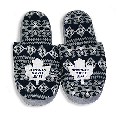 NHL Toronto Maple Leafs Men's Sherpa Slippers, Small
